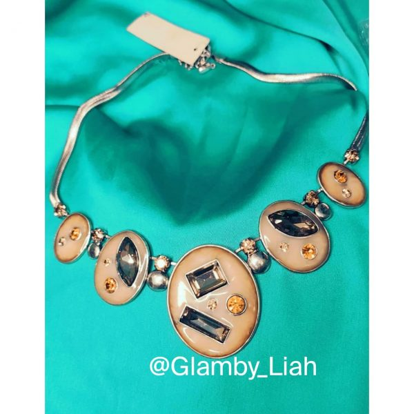 Oval Shaped Stone Necklace
